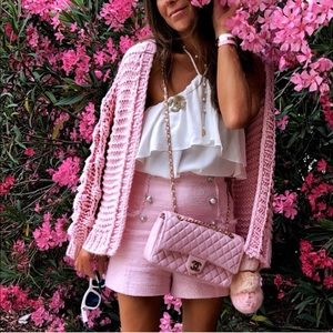 Bloggers favorite Zara High Rise Tweed Shorts